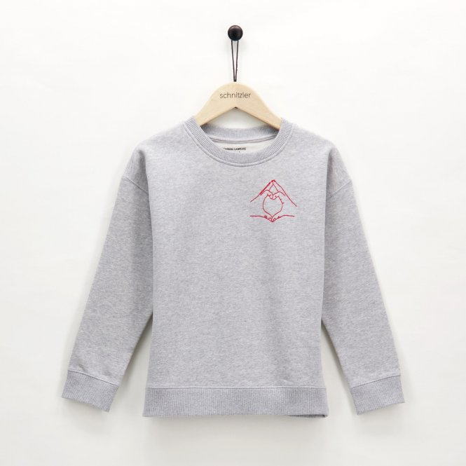 Mädchen Sweatshirt 'handlove'